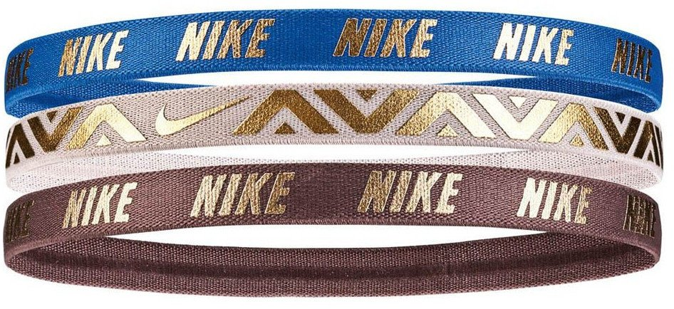 Stirnband Nike METALLIC HAIRBANDS 3 PACK